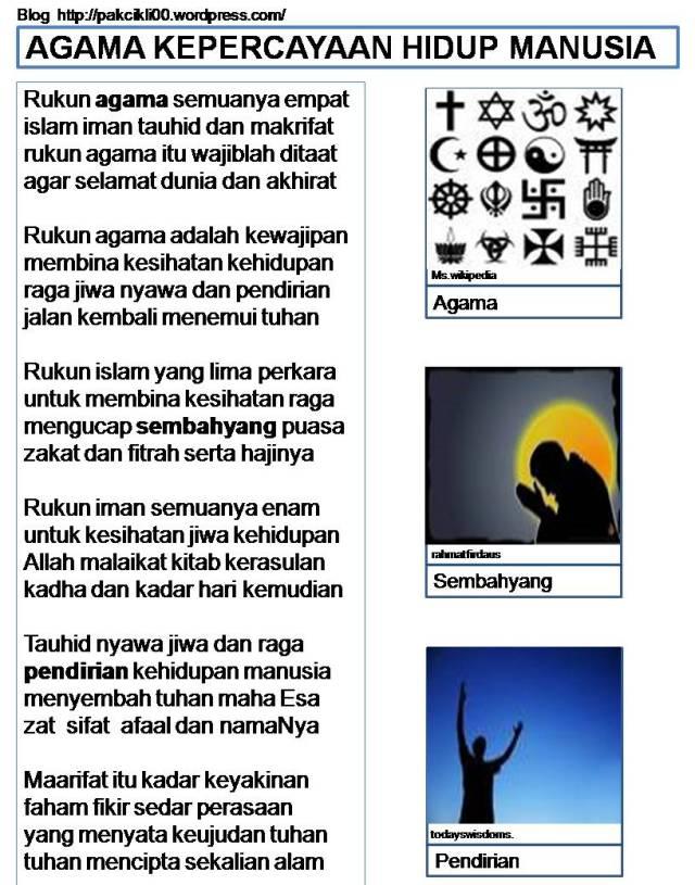 agama kepercayaan hidup manusia