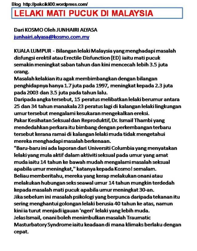 lelaki mati pucuk di Malaysia