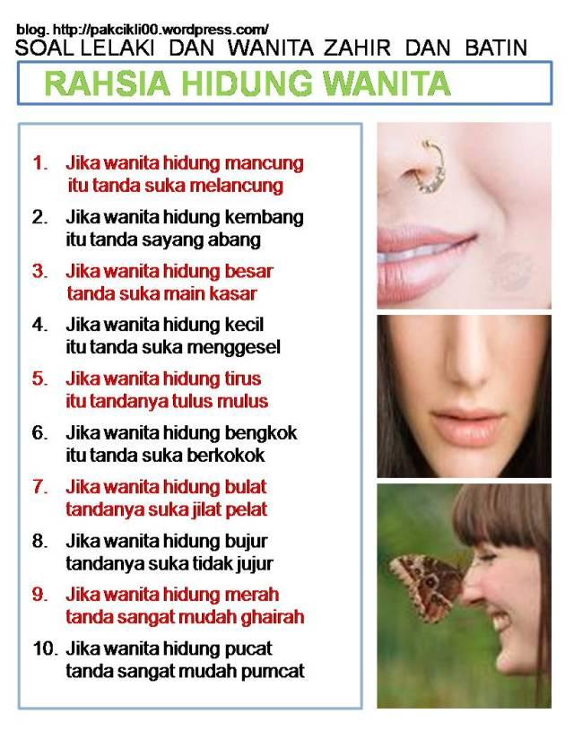 rahsia hidung wanita