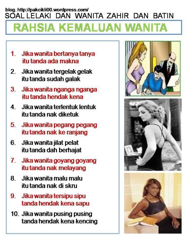 rahsia kemaluan wanita