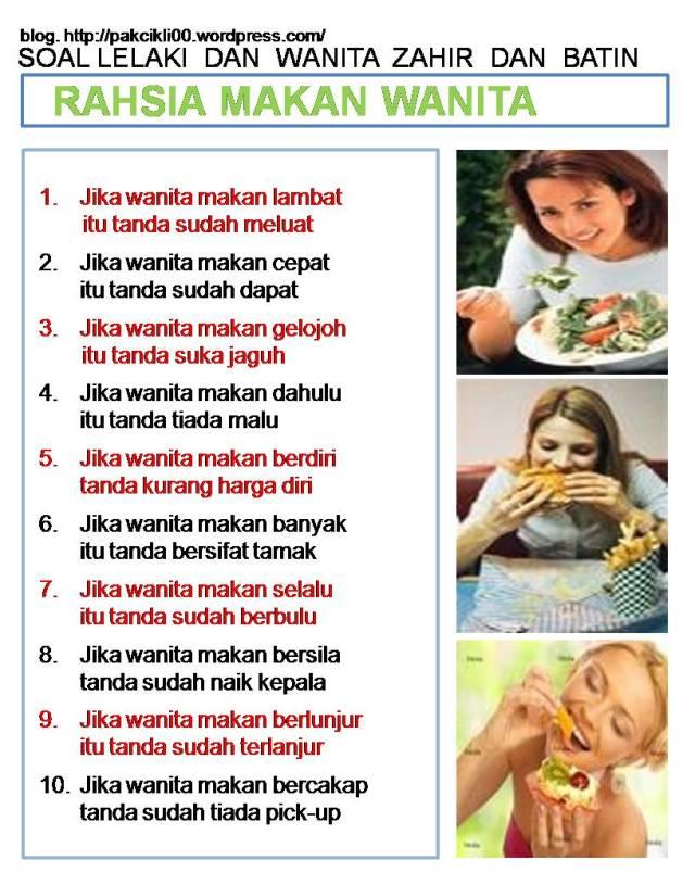 rahsia makan wanita