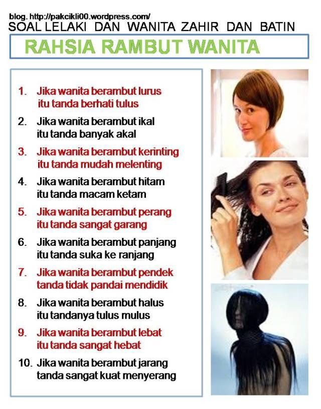 rahsia rambut wanita