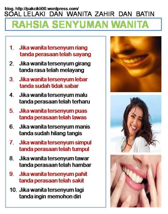 rahsia senyuman wanita