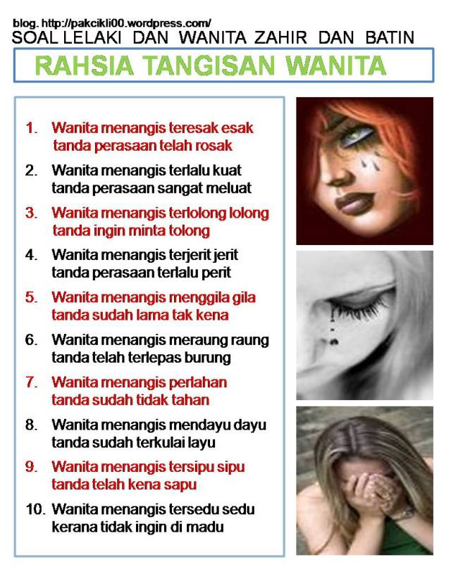 rahsia tangisan wanita