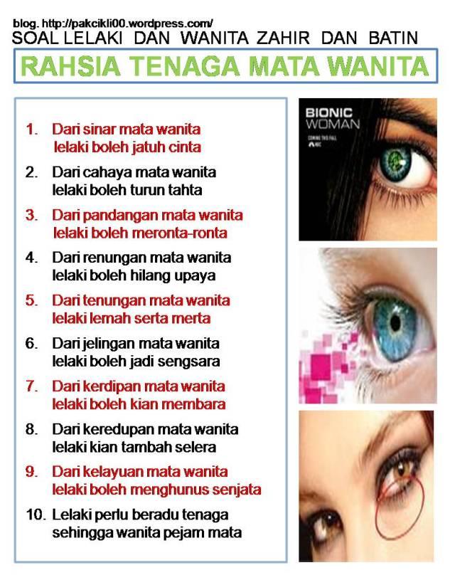 rahsia tenaga mata wanita