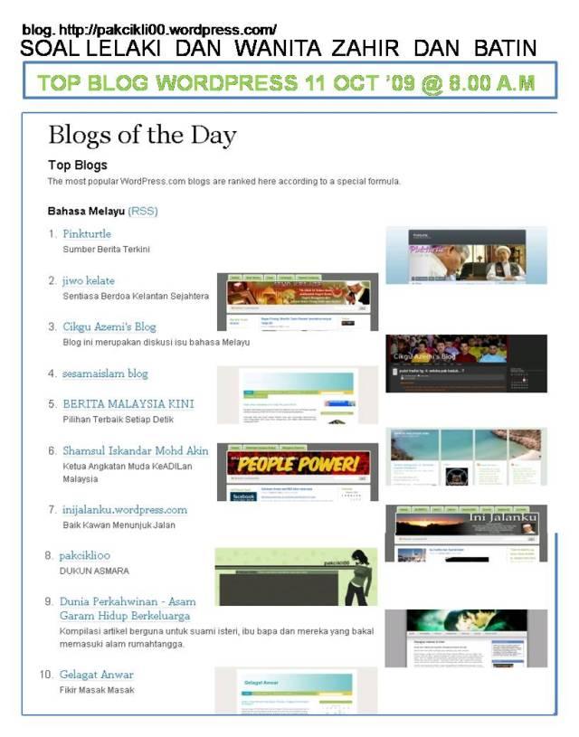 top blog wordpress