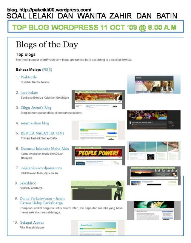top blog wordpress
