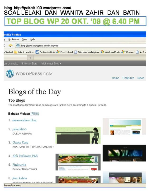 top blog wp 20 okt 09 @6.40pm