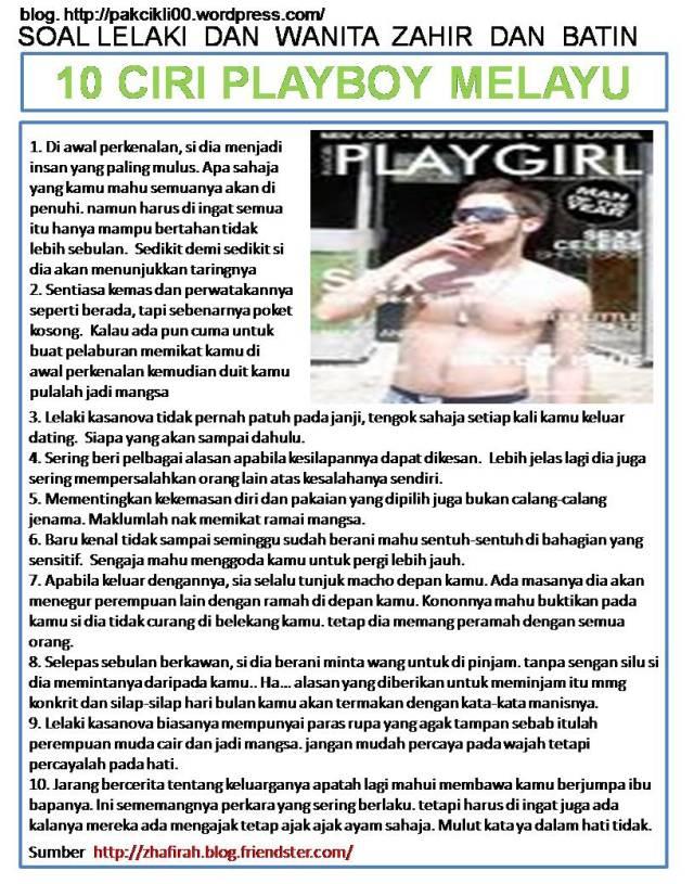 10 ciri playboy melayu