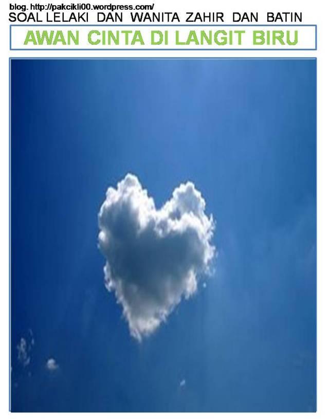 awan cinta di langit biru