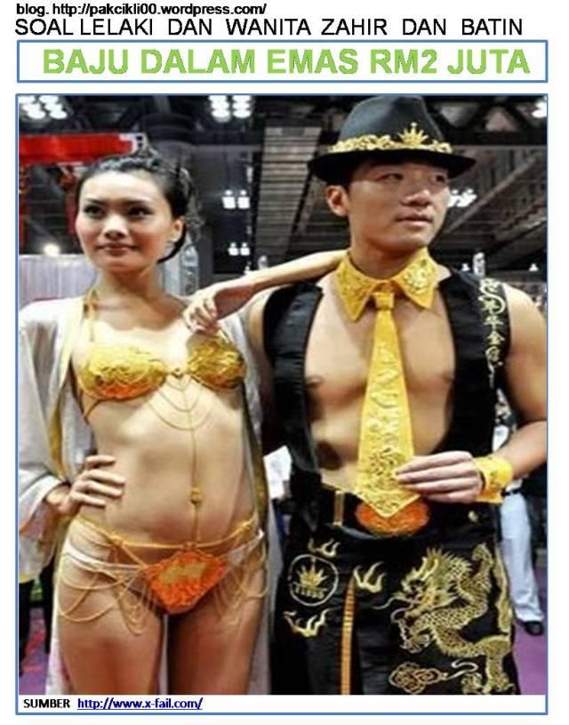 baju dalam emas RM2 juta