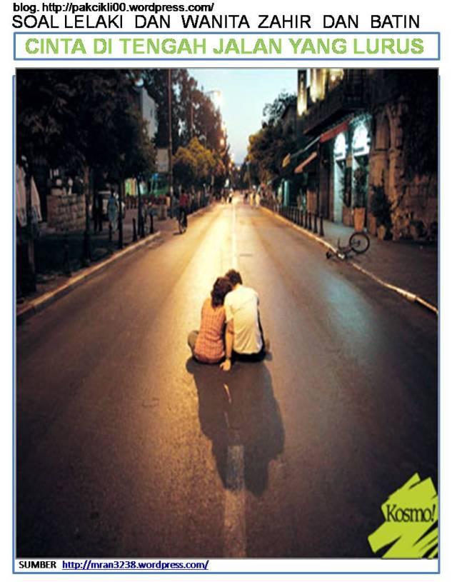 cinta di tengah jalan yang lurus