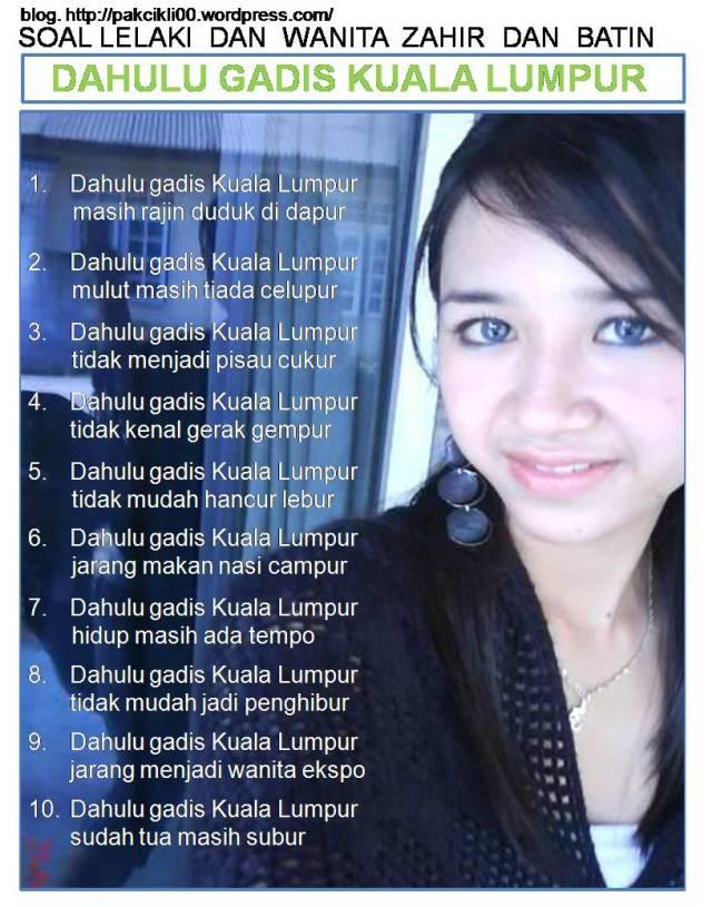 dahulu gadis Kuala Lumpur