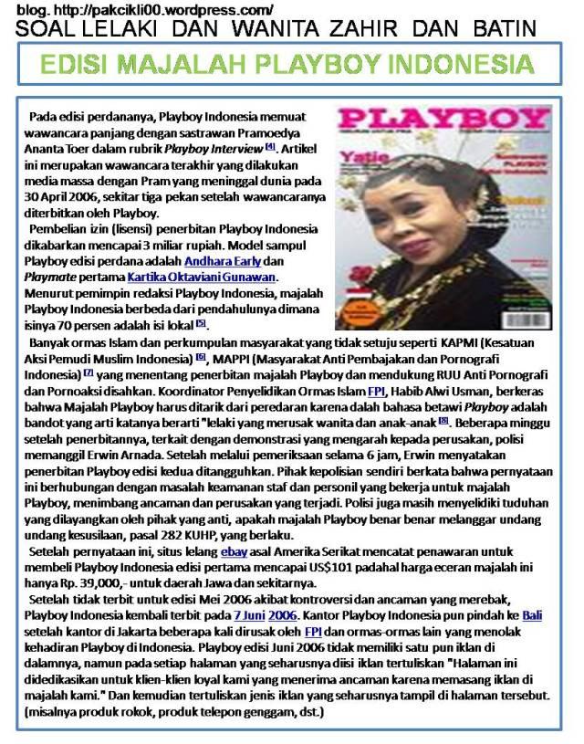 edisi majalah playboy Indonesia