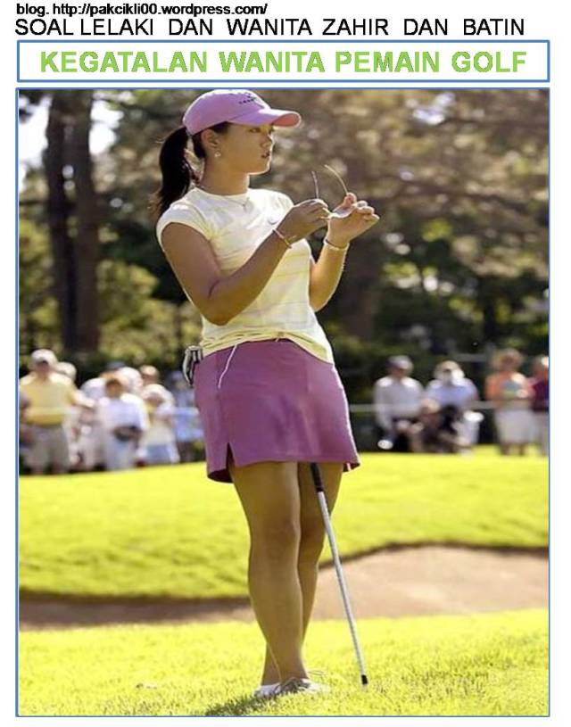 kegatalan wanita pemain golf