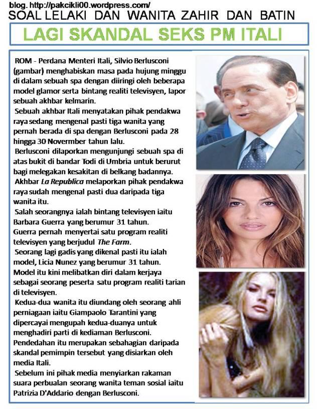 lagi skandal seks PM Itali