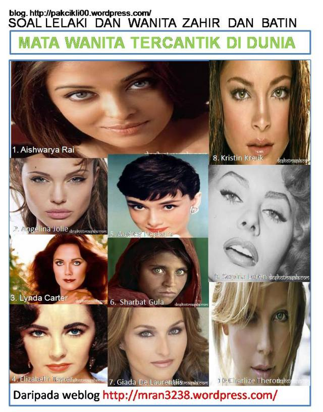 mata wanita tercantik di dunia