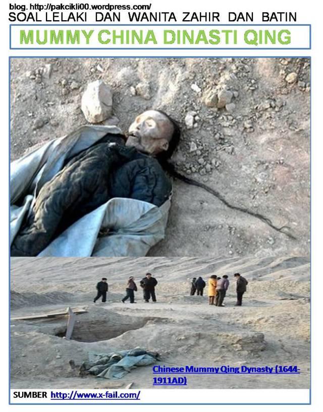mummy China dinasti Qing