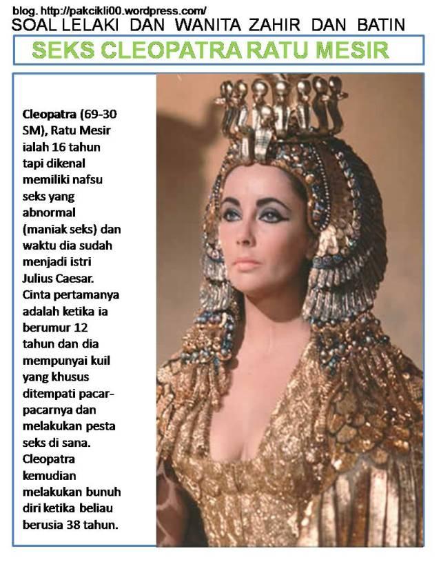 seks Cleopatra ratu Mesir