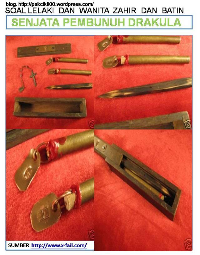 senjata pembunuh drakula