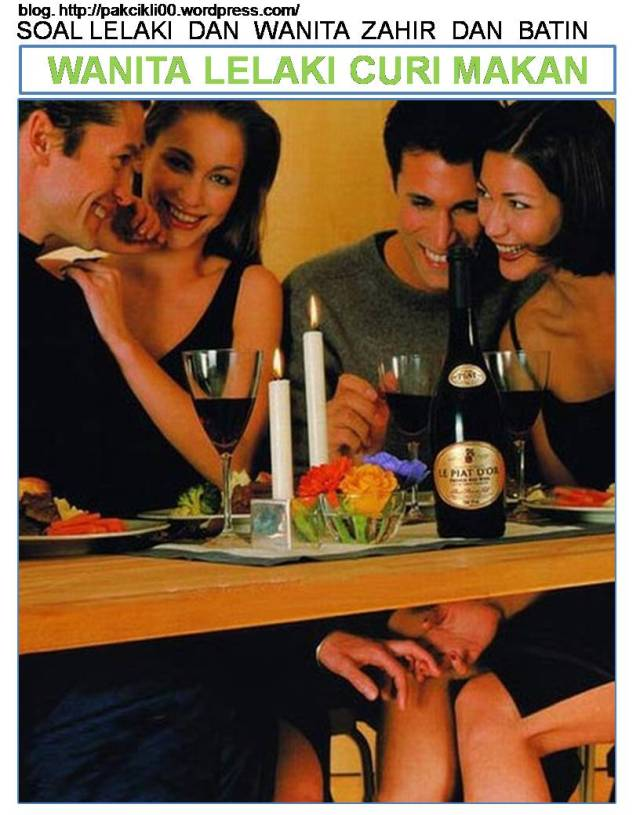 wanita lelaki curi makan