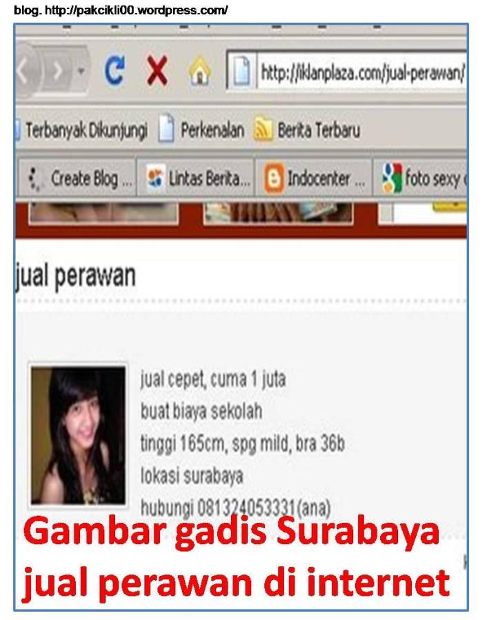 gambar gadis surabaya jual perawan di internet