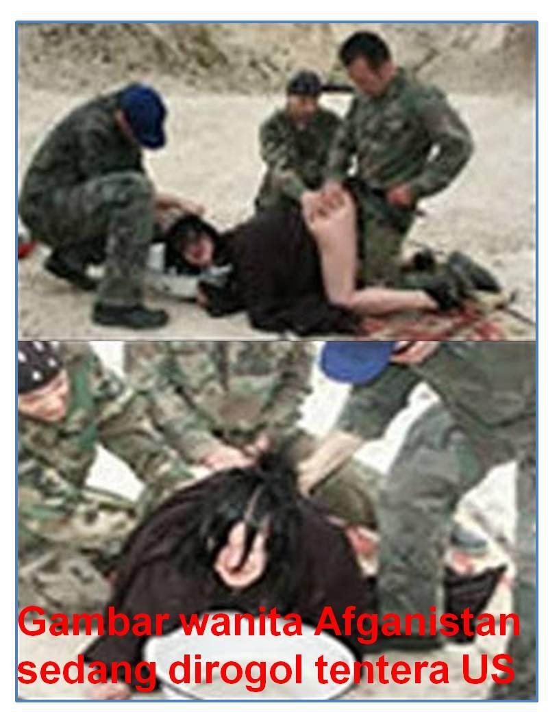 Gambar wanita Afganistan sedang dirogol tentera US